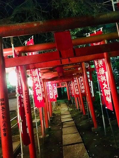 東京都鬼子母神堂の鳥居