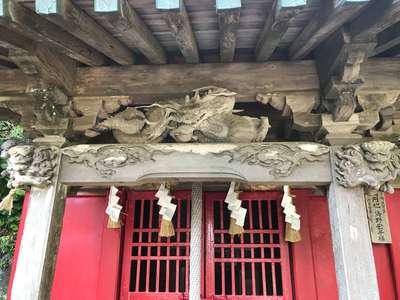 千葉県稲荷神社の本殿