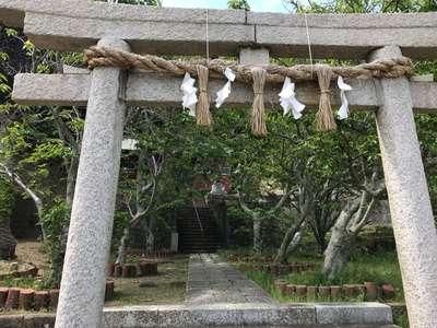 千葉県荒磯魚見根神社の鳥居