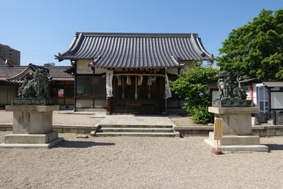 大阪府久保神社の本殿