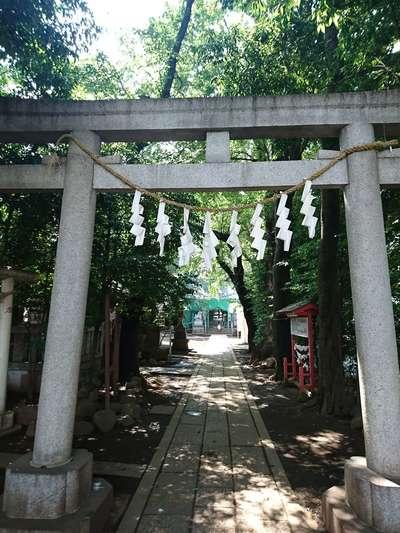 東京都神明氷川神社の鳥居