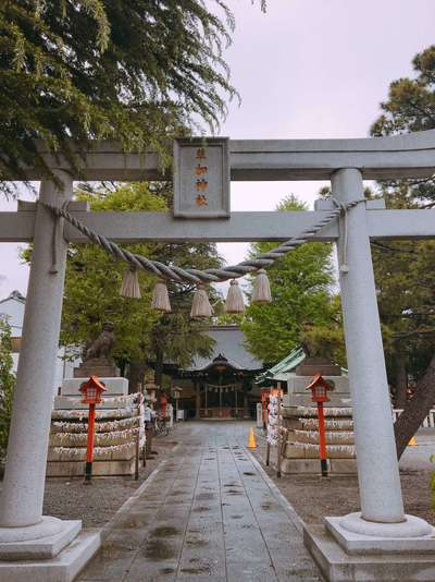 草加神社の鳥居