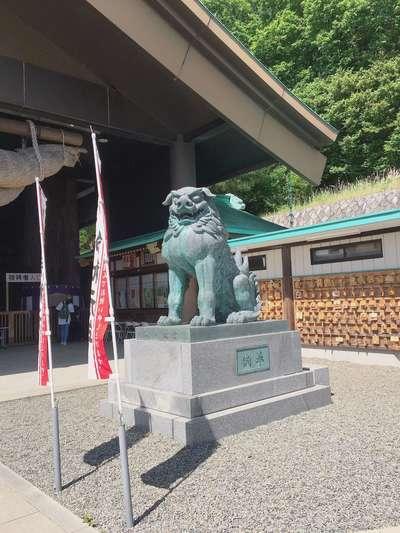 常陸国出雲大社(茨城県福原駅) - 狛犬の写真