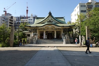 難波八坂神社の本殿