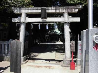 神奈川県三島神社の鳥居