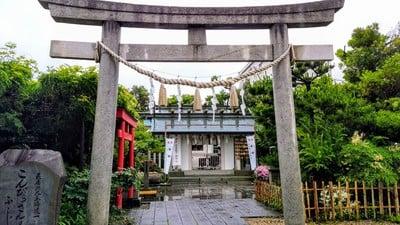 徳王稲荷社・金刀比羅社(愛知県東岡崎駅) - 鳥居の写真