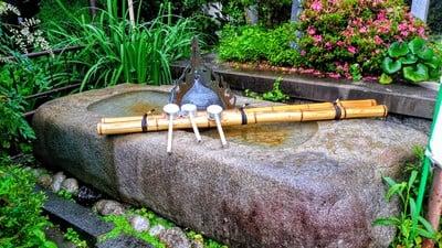 徳王稲荷社・金刀比羅社(愛知県東岡崎駅) - 手水舎の写真