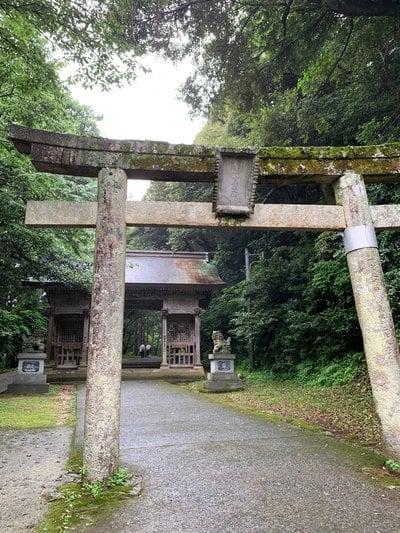鳥取県倭文神社の鳥居