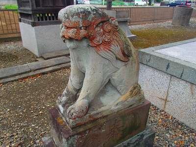 埼玉県中曽根香取御嶽神社の狛犬