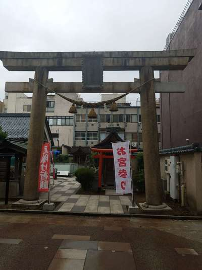 福井県柴田神社の鳥居