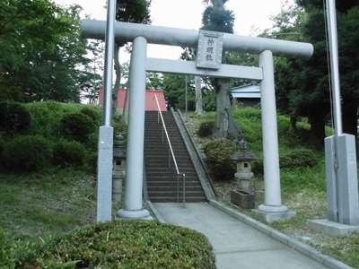 神奈川県神明社の鳥居