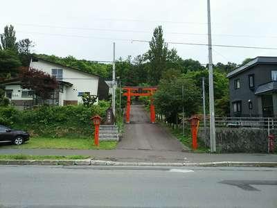 北海道塩谷神社の鳥居