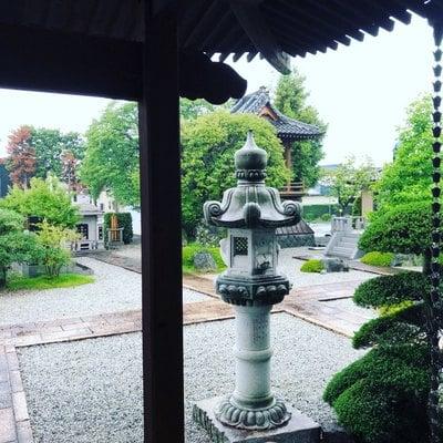 法源寺の庭園