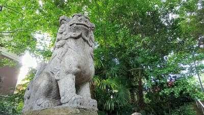 子ノ神社の狛犬