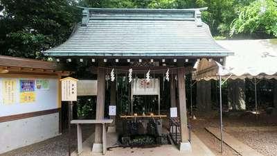 南沢氷川神社の手水