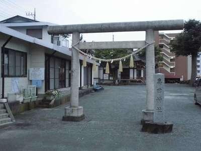 神奈川県妻田神社の鳥居