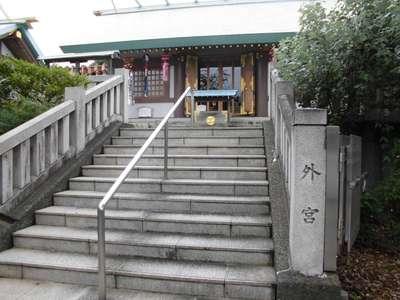 神奈川県伊勢原大神宮の本殿