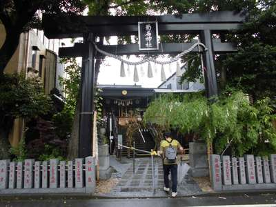 神奈川県菊名神社の鳥居