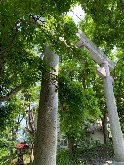 北海道厳島神社の鳥居