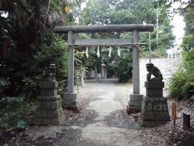 神奈川県貴日土神社の鳥居