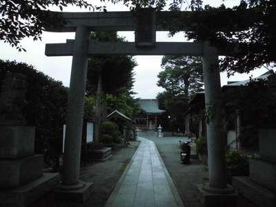 神奈川県八幡宮の鳥居