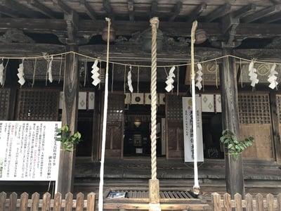 蠶養國神社の本殿