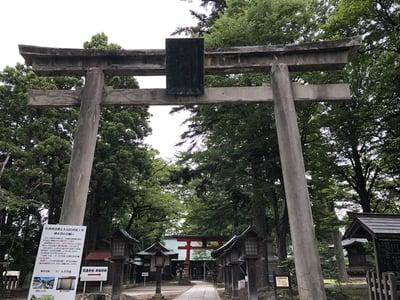 福島県蠶養國神社の鳥居