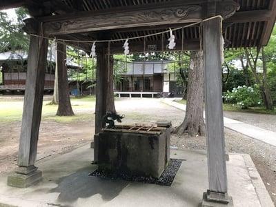 蠶養國神社の手水