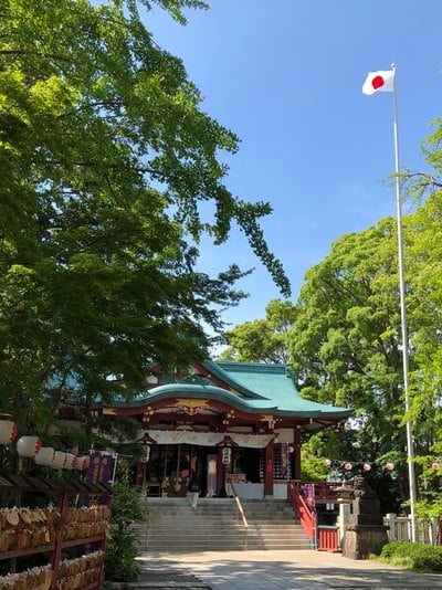 東京都多摩川浅間神社の本殿