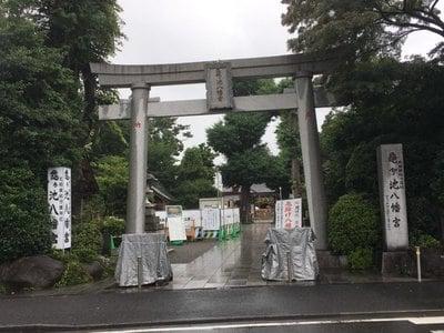神奈川県亀ケ池八幡宮の鳥居