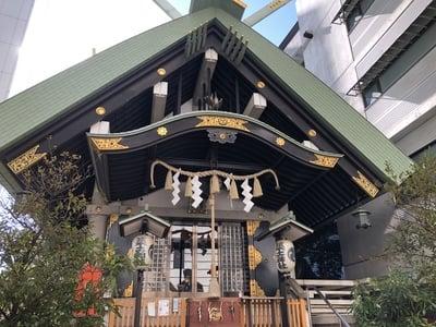 東京都築土神社の本殿