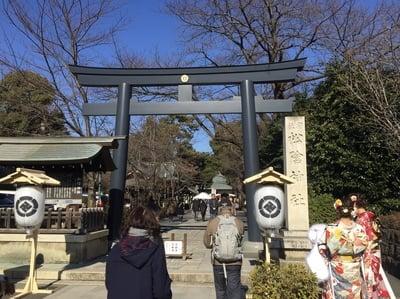 東京都松陰神社の鳥居