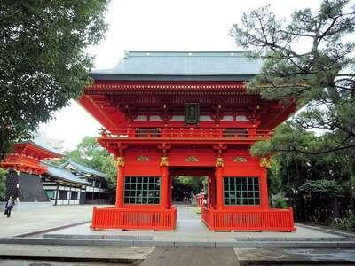 東京都穴八幡宮の山門