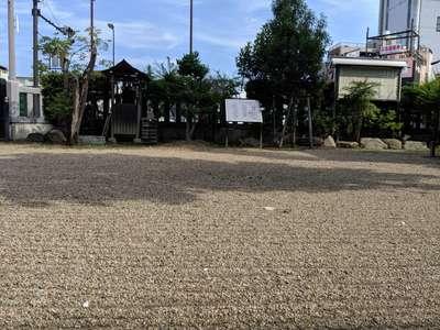 産土神社の庭園