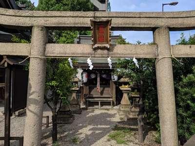 大阪府産土神社の鳥居