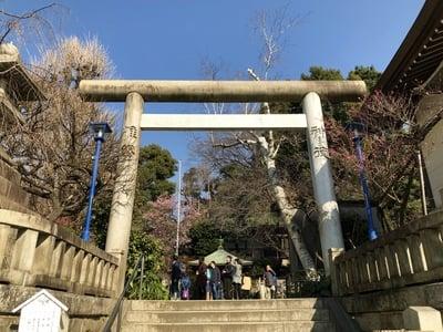 東京都五條天神社の鳥居