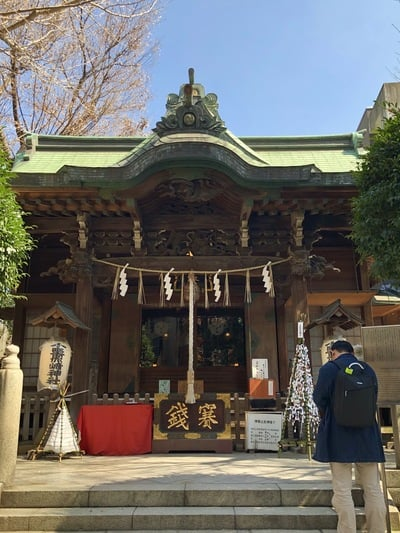 東京都小野照崎神社の本殿