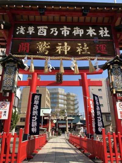 東京都鷲神社の鳥居