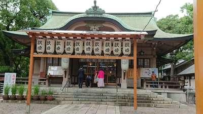 大阪府坐摩神社の本殿