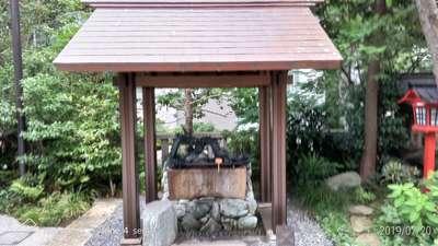 天祖神社の手水