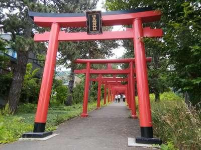 北海道札幌伏見稲荷神社の鳥居