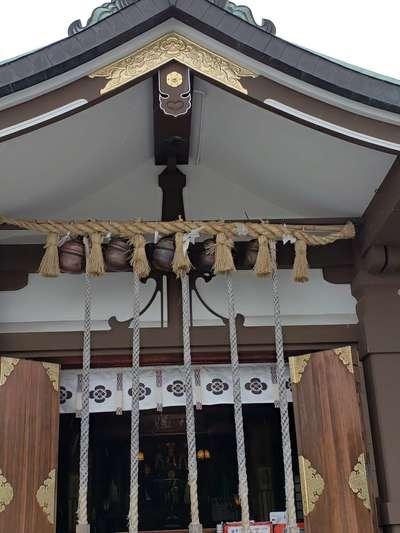 山口県亀山八幡宮の本殿