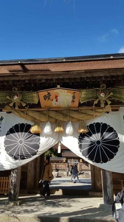 和歌山県熊野本宮大社の山門