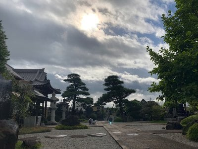 山梨県法源寺の鳥居