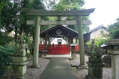岐阜県林稲荷神社の鳥居