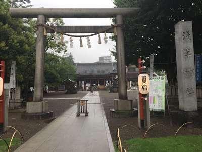 浅草神社の鳥居