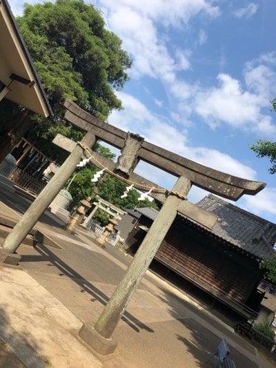 赤塚諏訪神社の鳥居