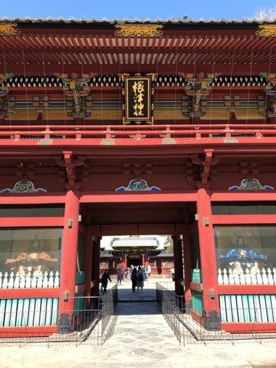 東京都根津神社の山門