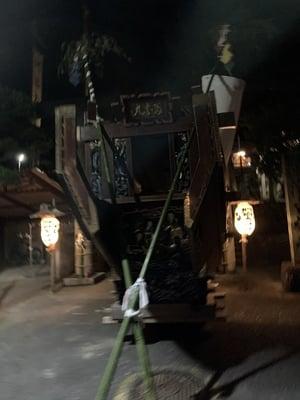 静岡県阿治古神社のお祭り