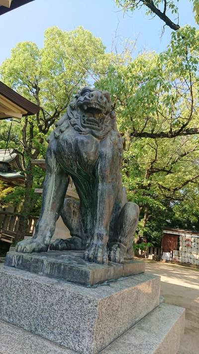 湊川神社の狛犬